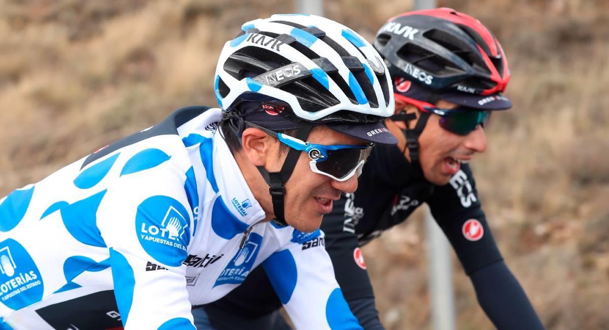Richard Carapaz, líder de la montaña de La Vuelta. Foto: EFE