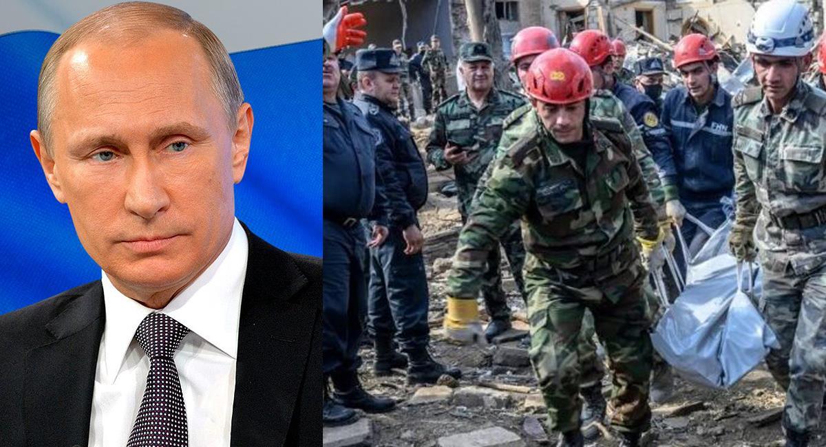 Vladimir Putin denuncia que los muertos del conflicto Nagorno Karabaj en los últimos días es de 5.000. Foto: Facebook Vladimir Putin/Twitter Doble Llave