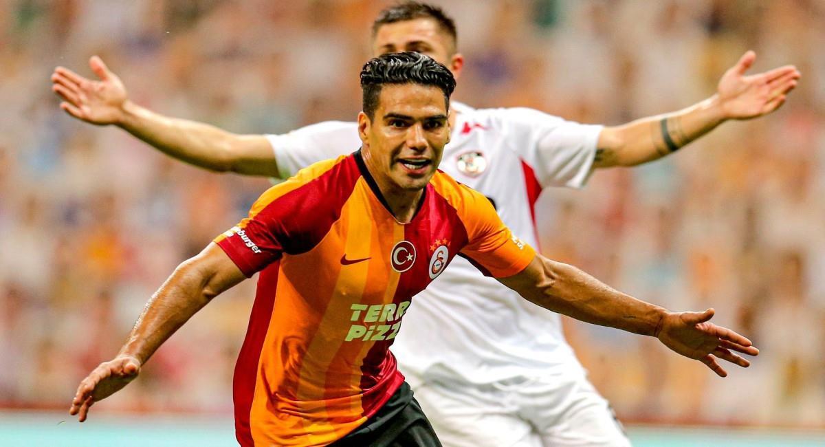 Falcao goleador en Galatasaray. Foto: Twitter Prensa redes Galatasaray.