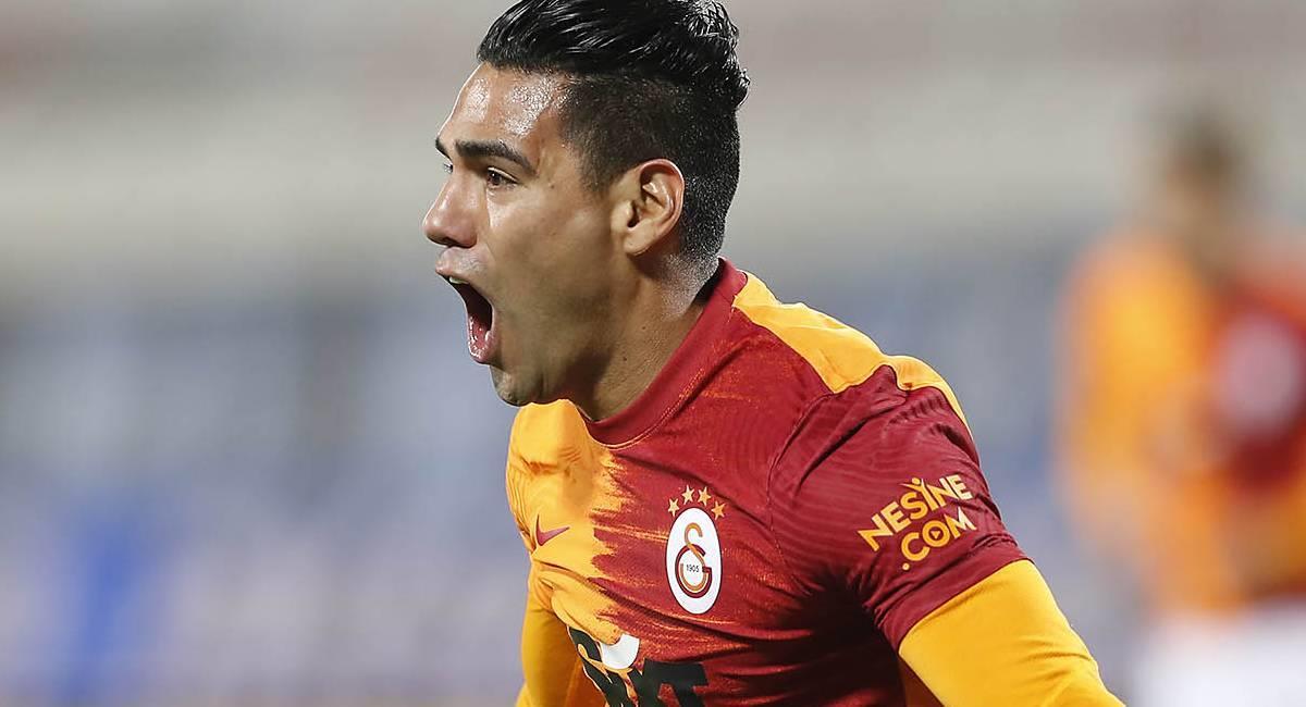 Falcao García celebra su gol con Galatasaray. Foto: Twitter @GalatasaraySK
