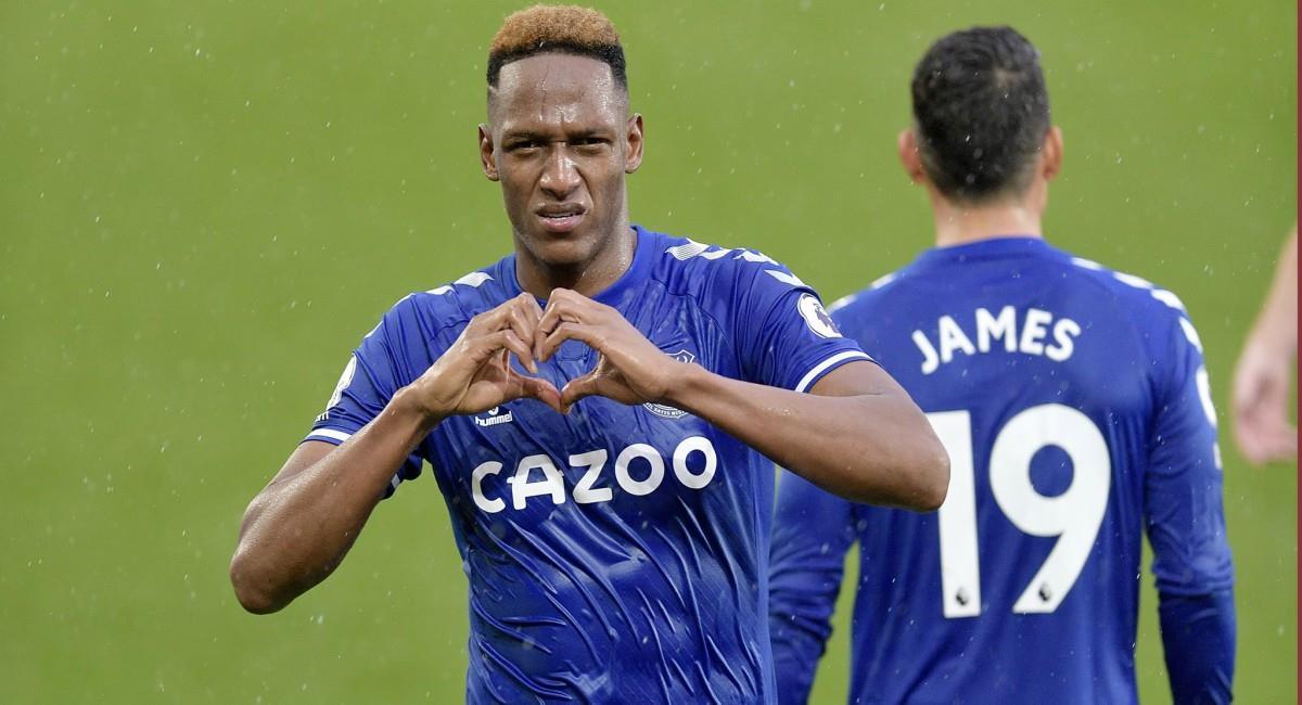 Emotivo mensaje de Mina a James. Foto: Twitter Prensa redes Everton.