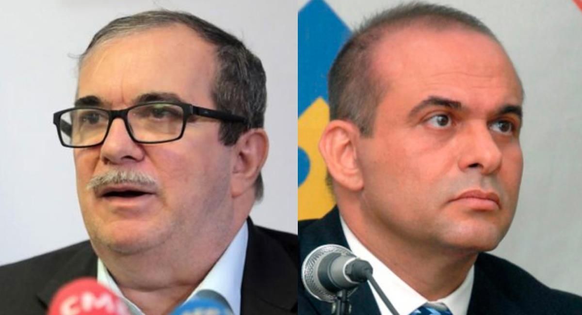 Rodrigo Londoño y Salvatore Mancuso, dos exlíderes de agrupaciones irregulares que hoy están fuera de la guerra. Foto: Twitter @CABLENOTICIAS