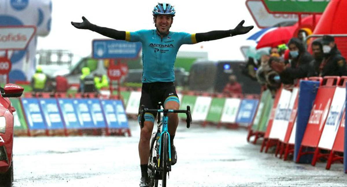 Richard Carapaz es el nuevo líder de la Vuelta a España. Foto: EFE