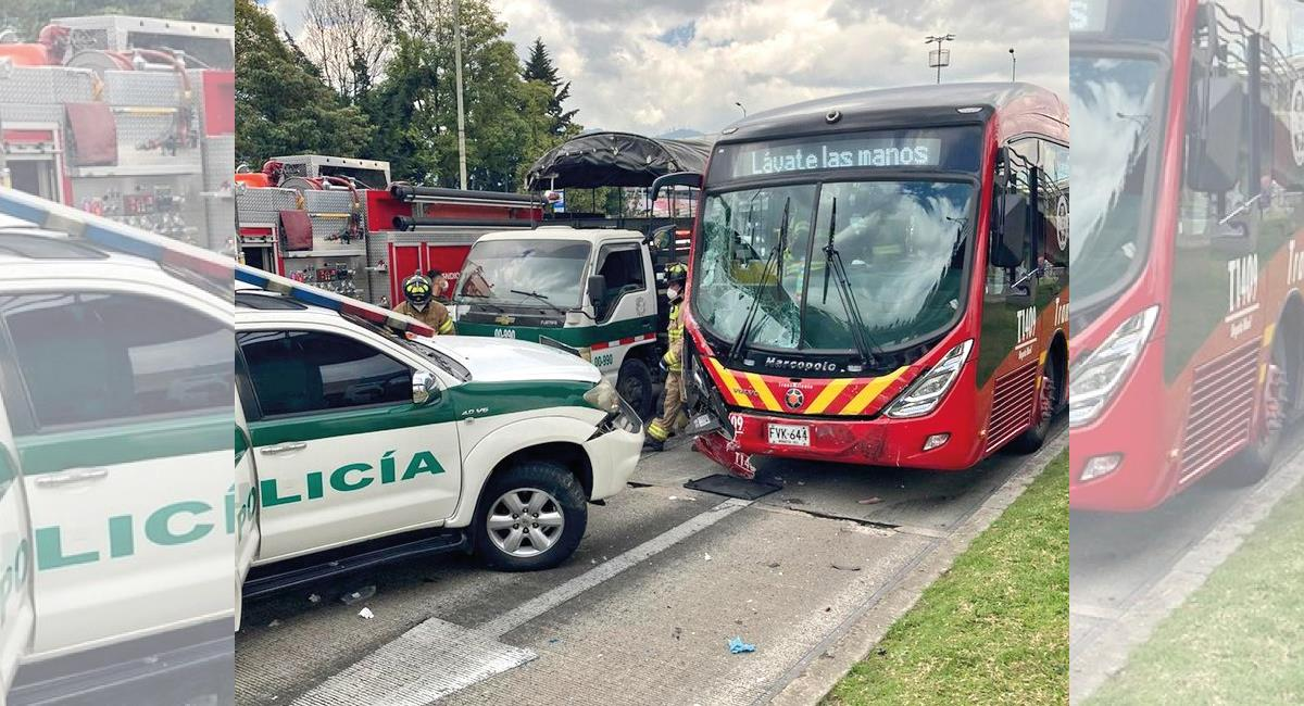 El hecho dejó 5 personas heridas. Foto: Twitter @BomberosBogota
