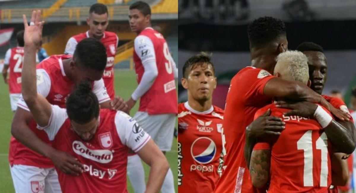 América y Santa Fe ganaron sus respectivos partidos. Foto: Twitter Prensa redes Dimayor.