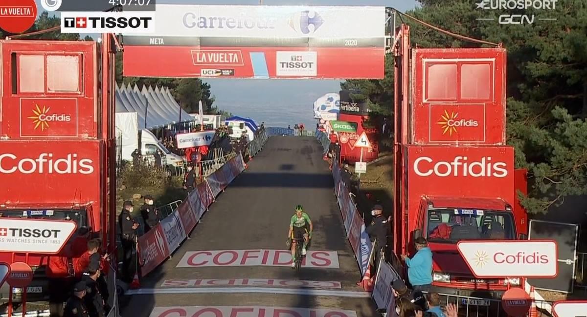 Primoz Roglic se llevó la etapa 8 de La Vuelta. Foto: Twitter @lavuelta