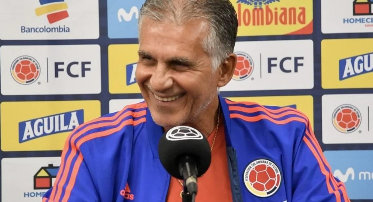 Carlos Queiroz, DT de la Selección Colombia. Foto: Prensa Federación Colombiana de Fútbol