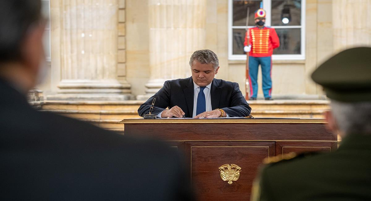 El presidente Iván Duque prorroga el decreto 1168 de aislamiento selectivo hasta el 30 de noviembre. Foto: Facebook Iván Duque
