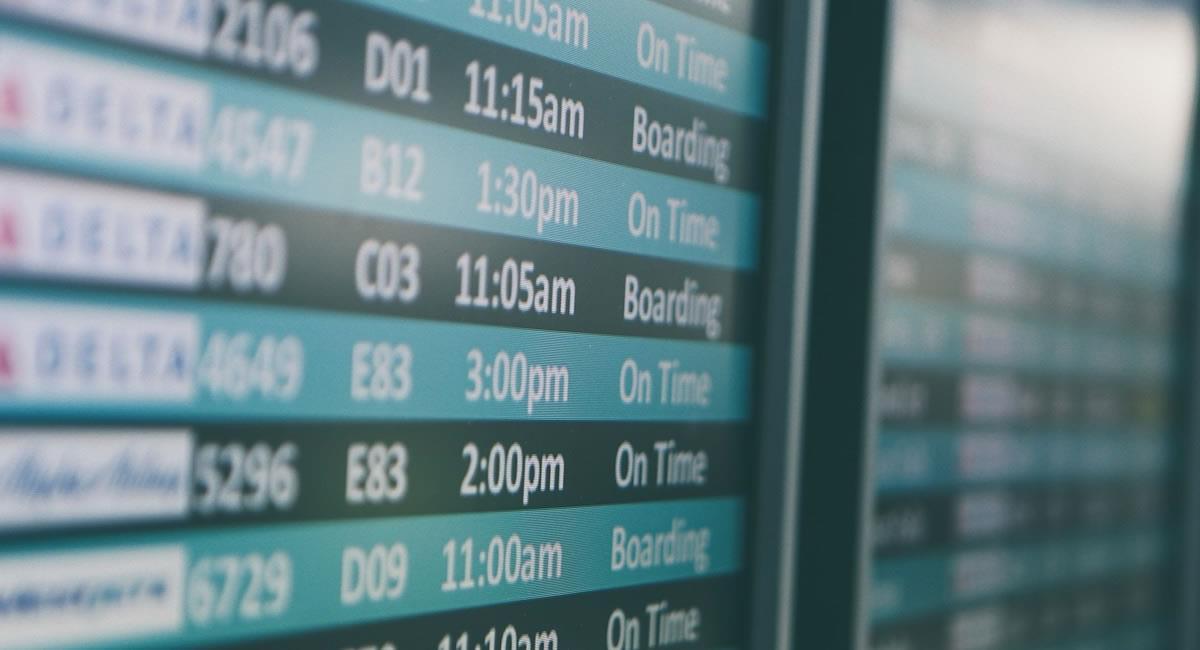 Los vuelos internacionales han tenido una caída de más del 80% con respecto a años previos. Foto: Twitter
