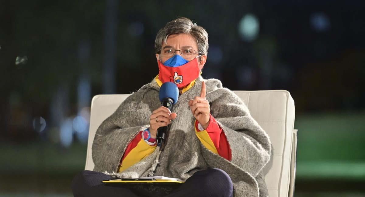 Claudia López, alcaldesa de Bogotá. Foto: Twitter / @Bogota