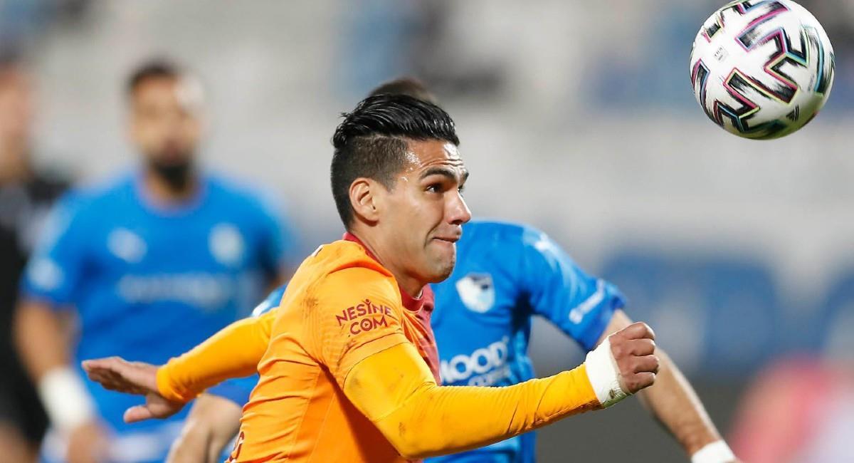 Falcao García, jugador de Galatasaray en Turquía. Foto: Twitter @GalatasaraySK