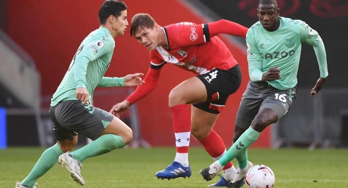 James Rodríguez no estará ante Newcastle. Foto: EFE