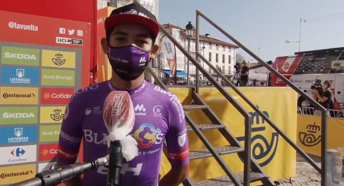 Juan Felipe Osorio logró ser el más combativo de la etapa 9 de La Vuelta. Foto: Twitter @lavuelta