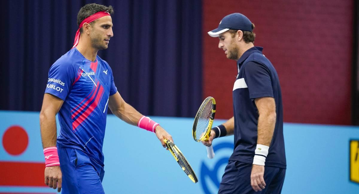 Robert Farah y Fabrice Martin cayeron en el ATP 500 de Viena. Foto: ATP Tour