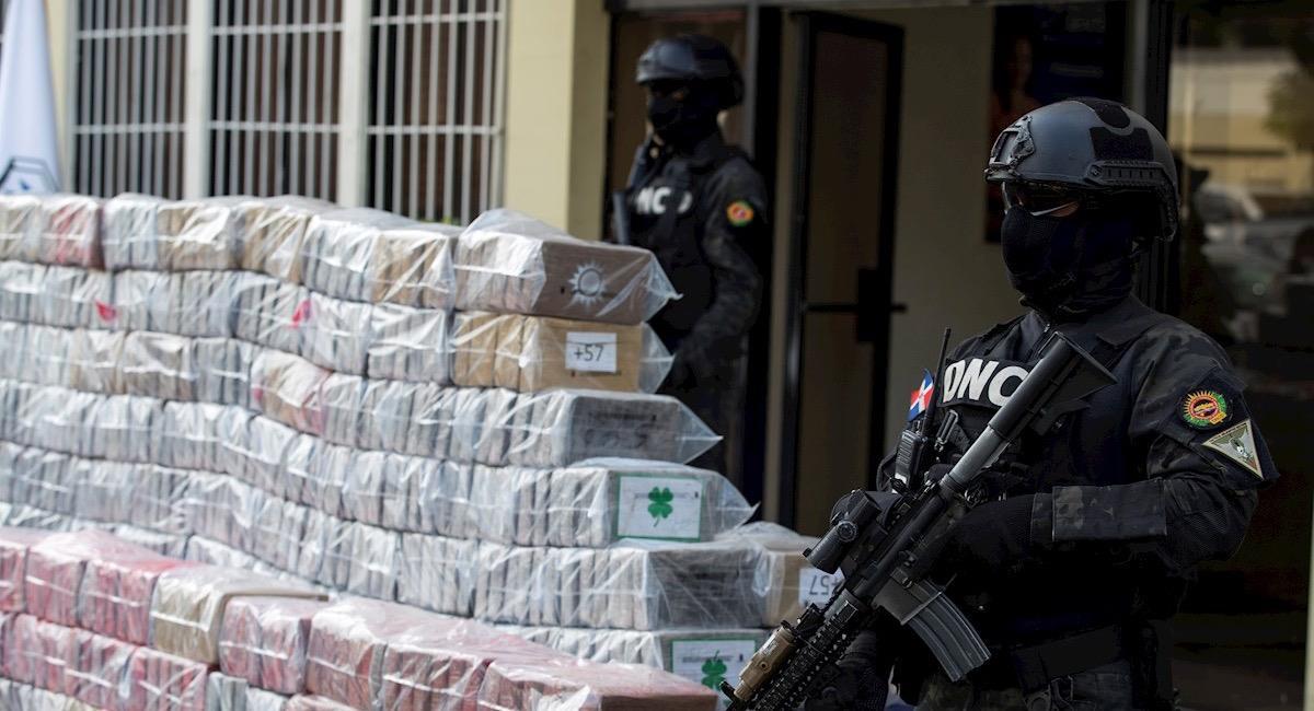 Cocaína incautada en República Dominicana. Foto: EFE