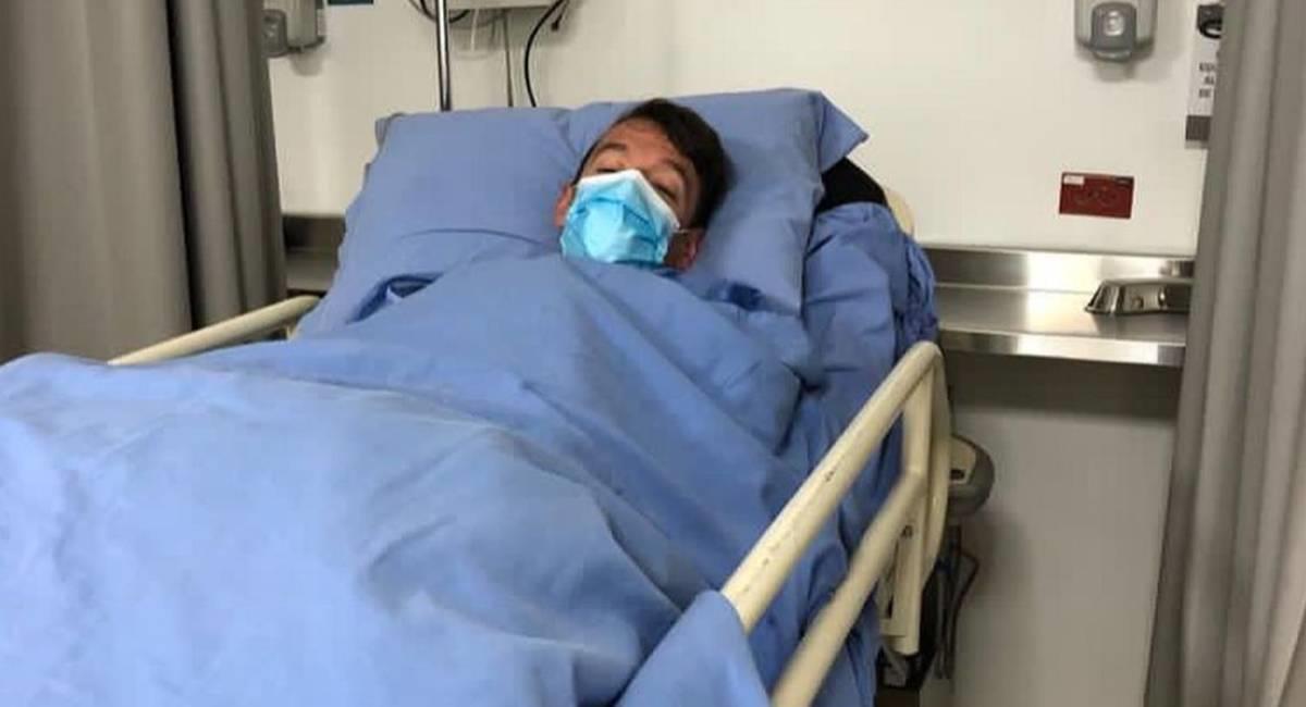 Rigoberto Urán recuperándose de su cirugía. Foto: Instagram