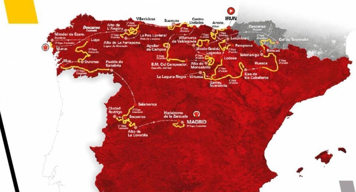 La Vuelta a España 2020 tendrá 14 kilómetros más en la última etapa. Foto: Prensa La Vuelta