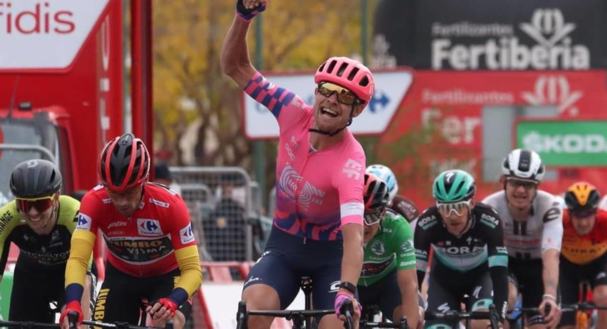 Magnus Cort Nielsen gana la etapa 16 de La Vuelta. Foto: EFE