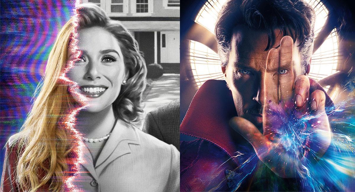 """""""WandaVision"""" y """"Doctor Strange in the Multiverse of Madness"""" son dos de las grandes apuestas de Marvel Studios. Foto: Twitter @wandavision y @DrStrange"""