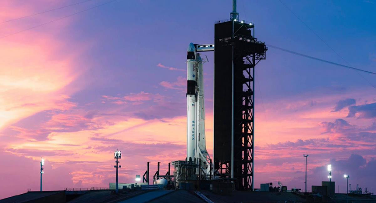 El vuelo hacia la Estación Espacial Internacional será este sábado 14 de noviembre. Foto: Twitter @SpaceX.