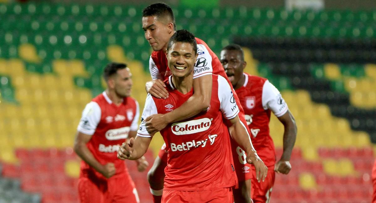 Santa Fe venció a Atlético Bucaramanga. Foto: Twitter Prensa redes Dimayor.