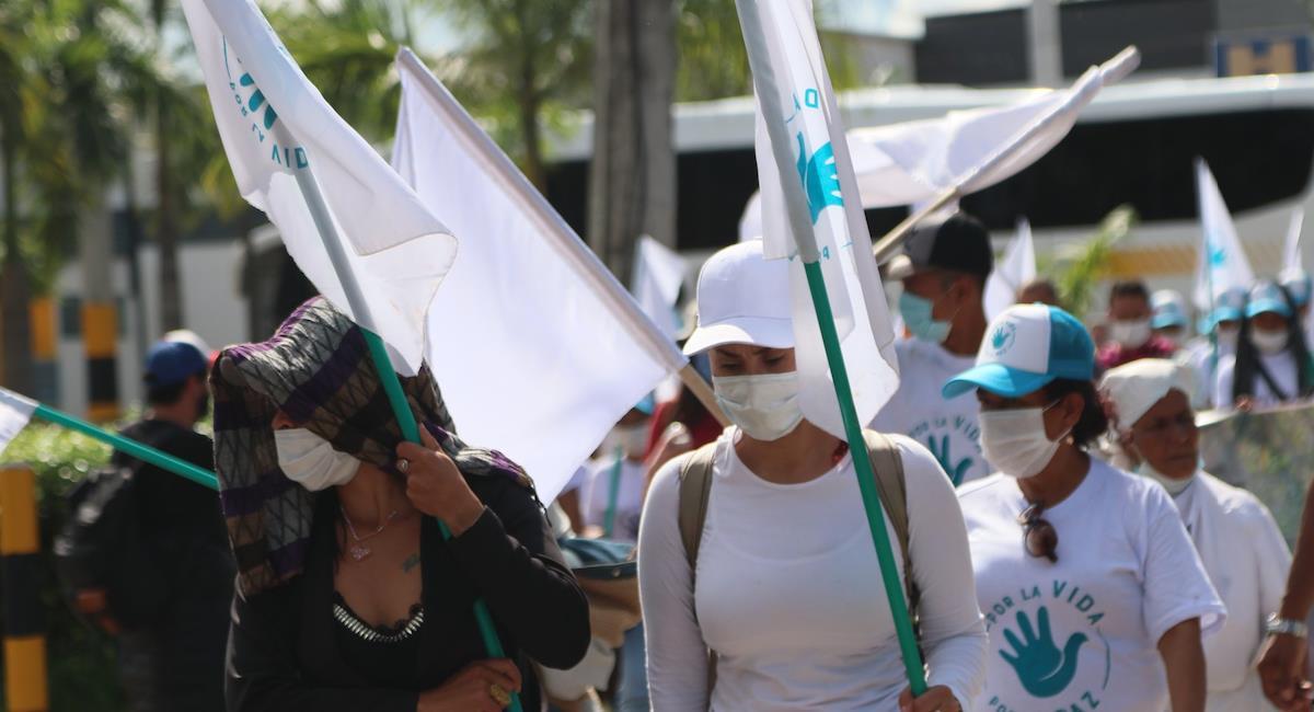 Excombatientes y el partido FARC piden al gobierno terminar con asesinatos. Foto: Twitter @PartidoFARC