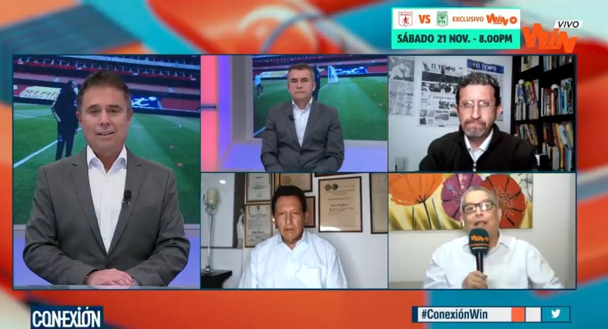 Los periodistas de Conexión de Win Sports quieren el regreso de Pékerman. Foto: Twitter @WinSportsTV