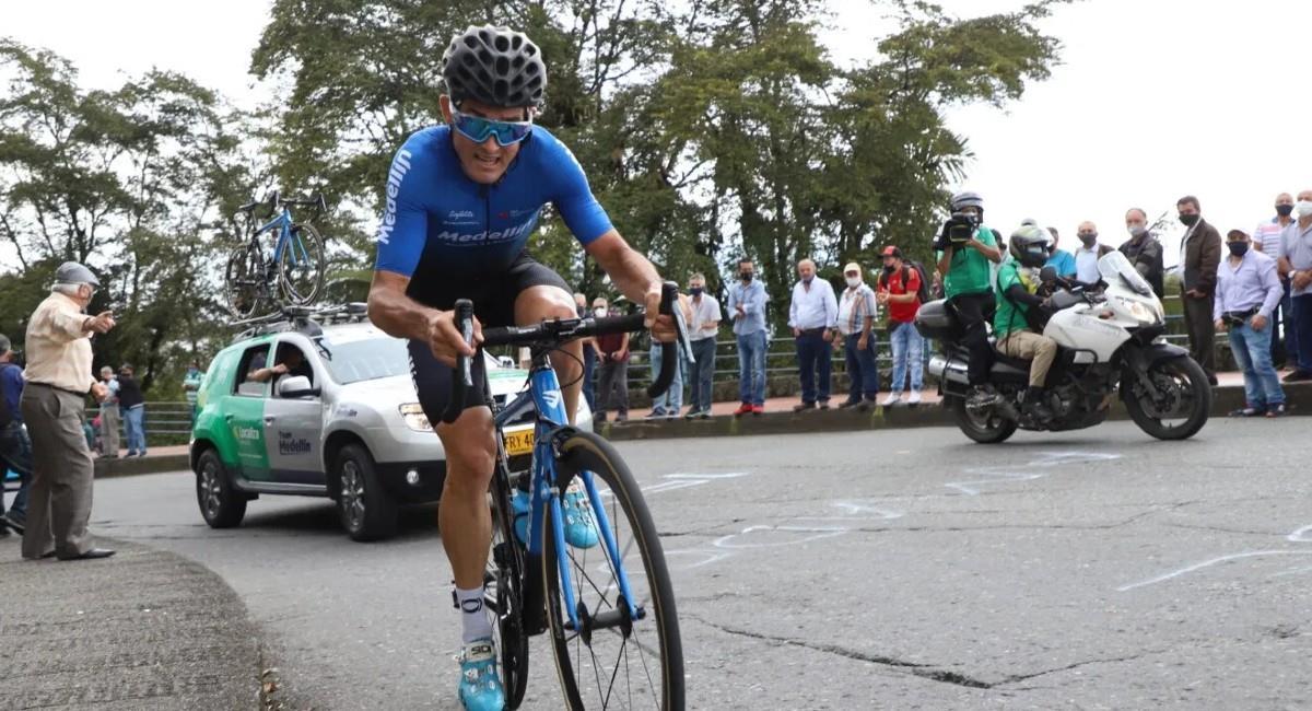Óscar Sevilla ganó la séptima etapa de la Vuelta a Colombia. Foto: Prensa Fedeciclismo