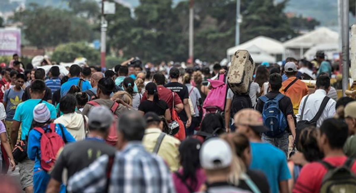 Migración Colombia afirmó que la situación fue controlada por la Policía. Foto: Twitter @ElVenezolanoCo