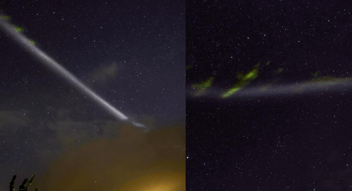 El evento astronómico fue captado por primera vez por unos ciudadanos Suizos. Foto: Twitter @NASA