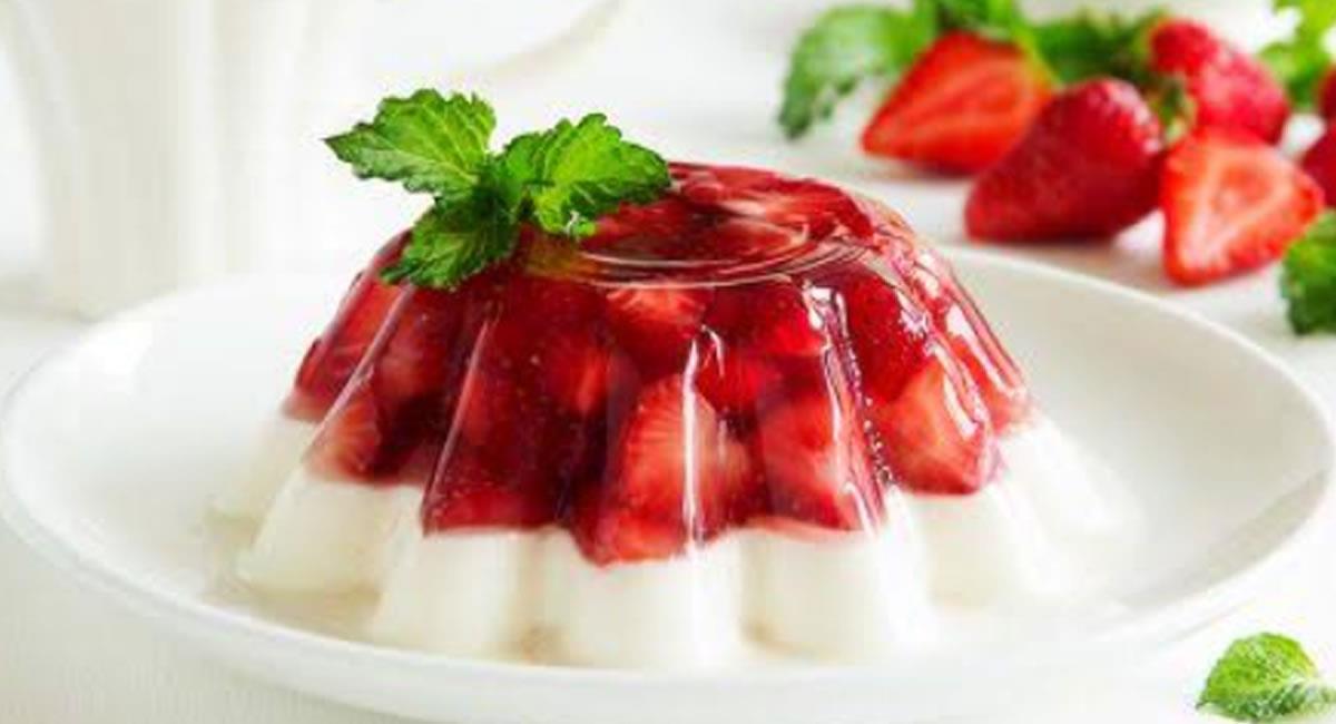 Los sabores de la fresa, con la gelatina, quedan super delicioso. Foto: Twitter @Lucero_ColinR