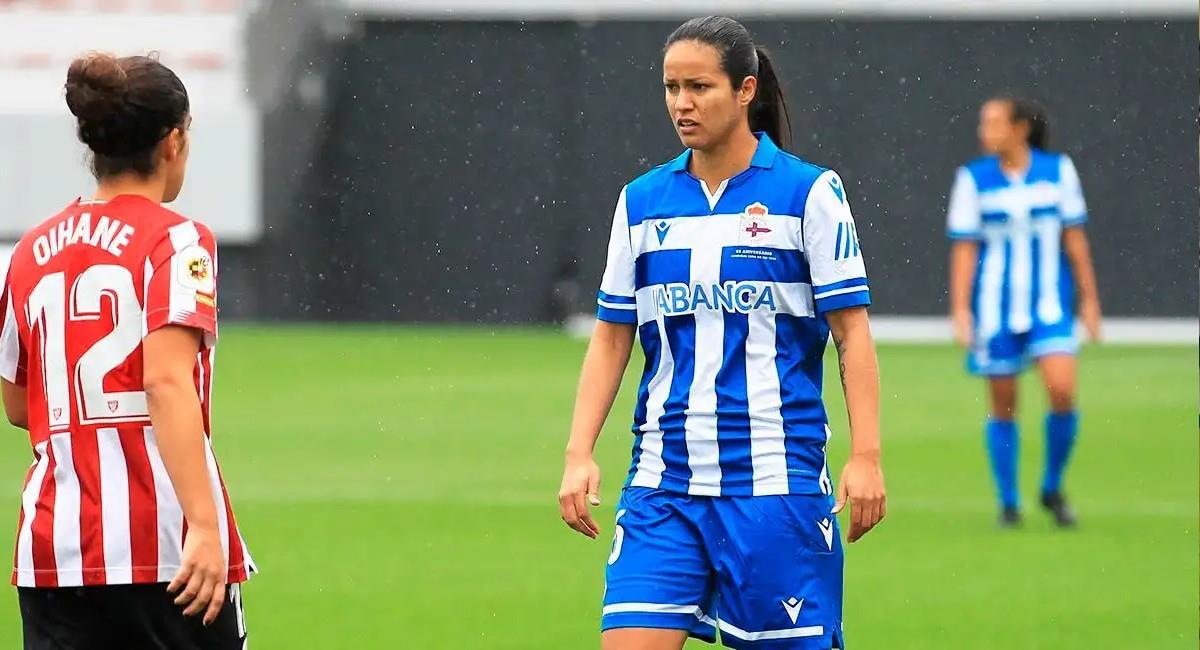 Lady Andrade jugadora de Deportivo Abanca. Foto: Twitter @RCDeportivo