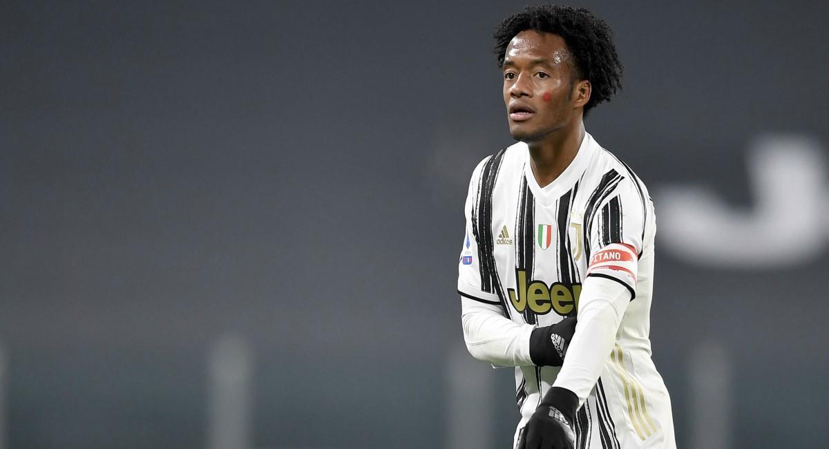 Cuadrado titular con Juventus. Foto: Twitter Prensa redes Juventus.