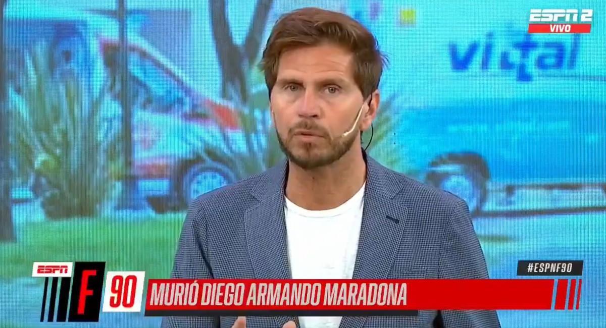 Sebastián Vignolo, presentador deportivo en ESPN. Foto: Twitter @ESPNFCarg
