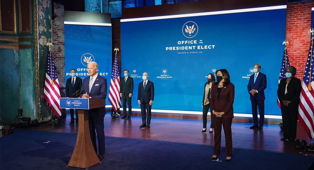El electo presidente de Estados Unidos presentó a su nuevo gabinete del que dijo es mezcla de experiencia y liderazgo. Foto: Twitter @JoeBiden