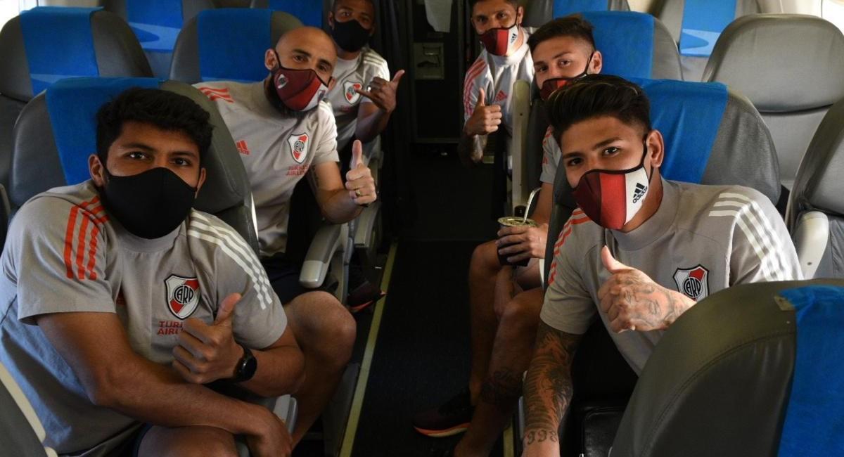 Jorge Carrascal (D) jugador colombiano en River Plate. Foto: Twitter @RiverPlate