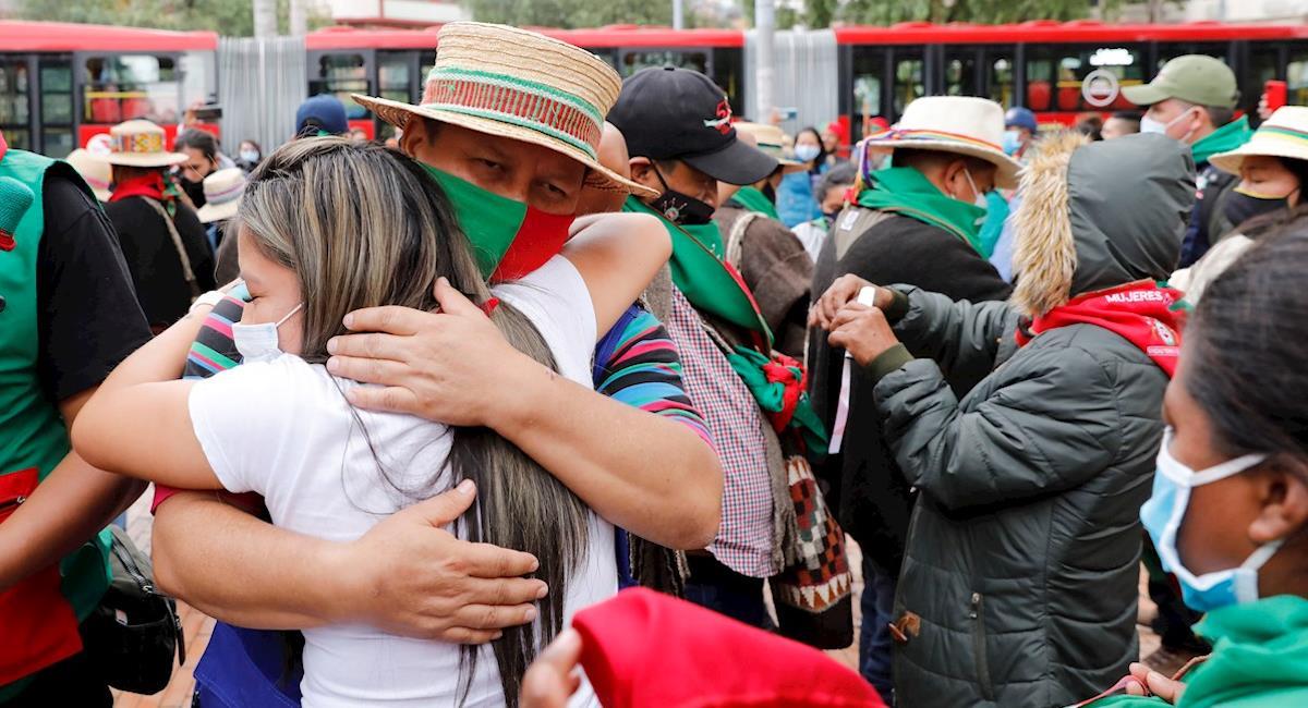 """Indígenas abren la """"Casa del Pensamiento"""" en Bogotá. Foto: EFE"""