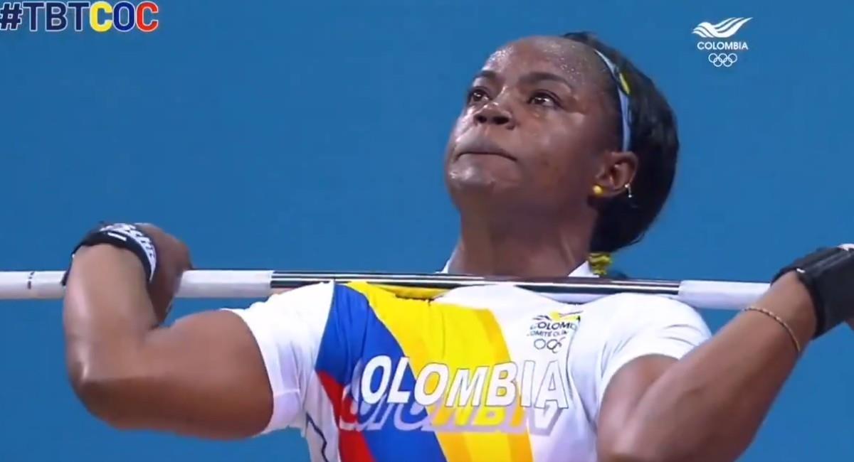 Ubaldina Valoyes en su participación en Londres 2012. Foto: Twitter @OlimpicoCol