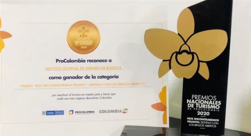 Bogotá ganó en los Premios Nacionales de Turismo de Procolombia