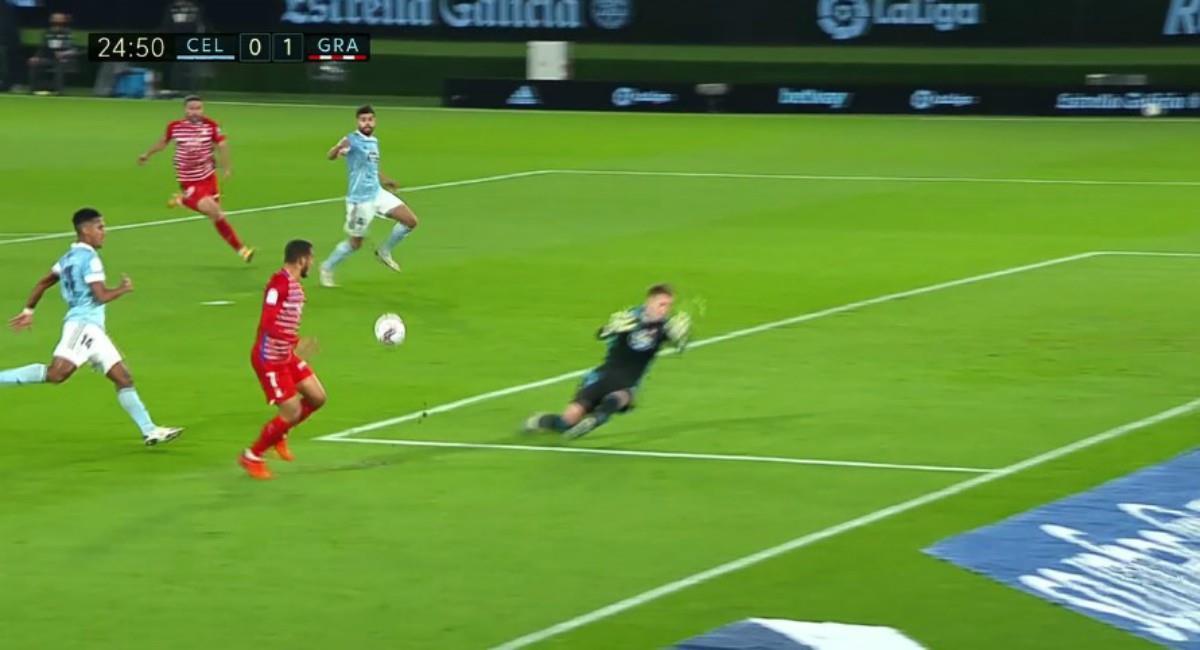 Gol del colombiano Luis Suárez. Foto: Twitter captura pantalla ESPN