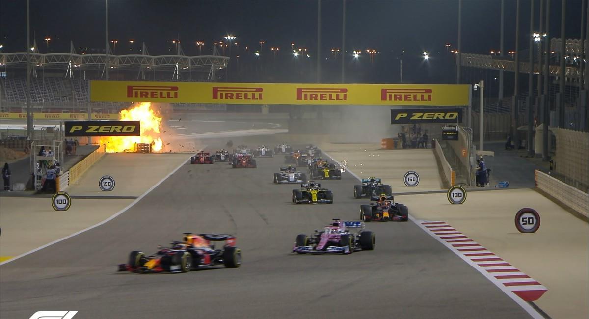 Impresionante accidente de la Fórmula Uno. Foto: Twitter Prensa redes F1.