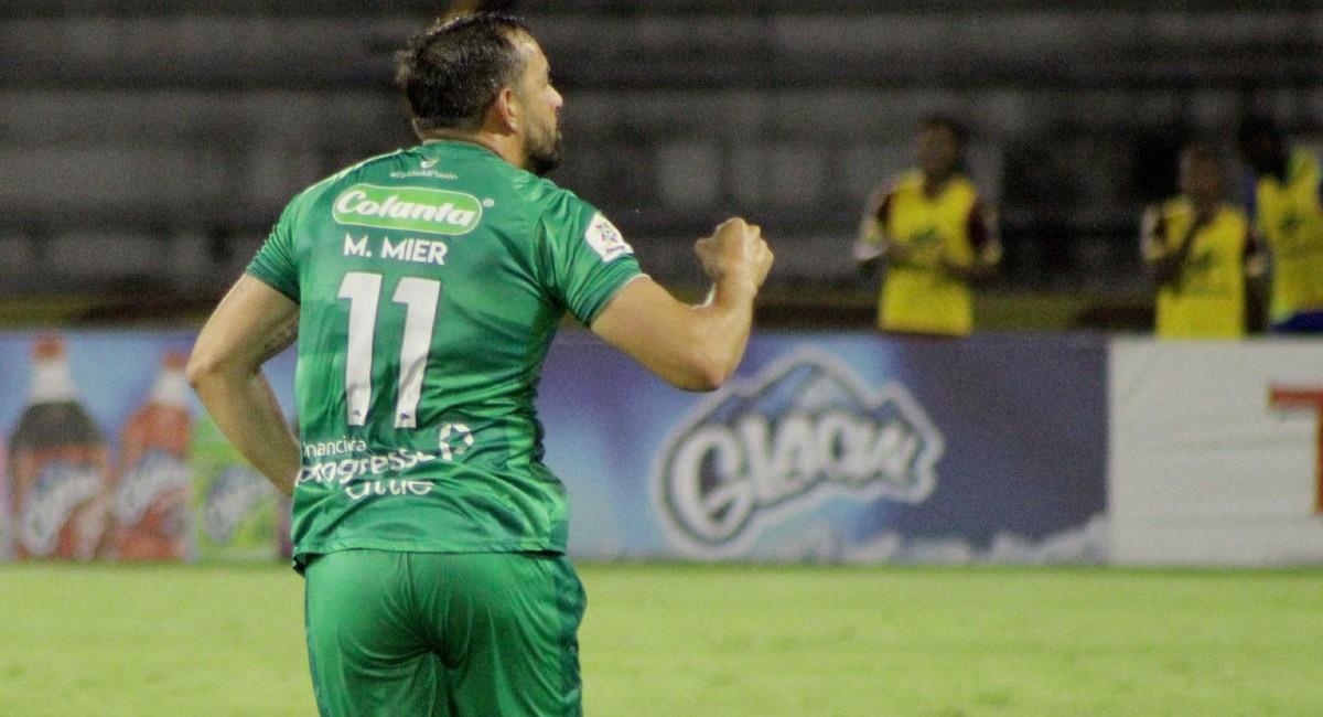 Matías Mier, jugador de La Equidad. Foto: Twitter @Equidadfutbol