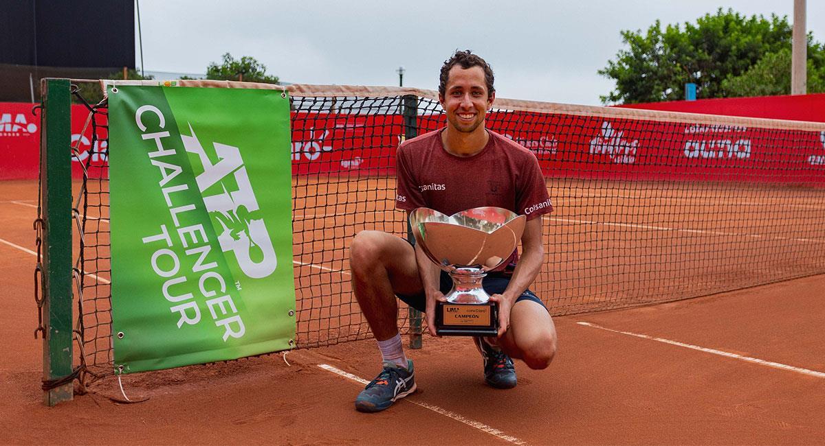 Daniel Galán logró conquistar el Challenger de Lima y alcanzó su mejor posición en el ranking ATP. Foto: Twitter @fedecoltenis