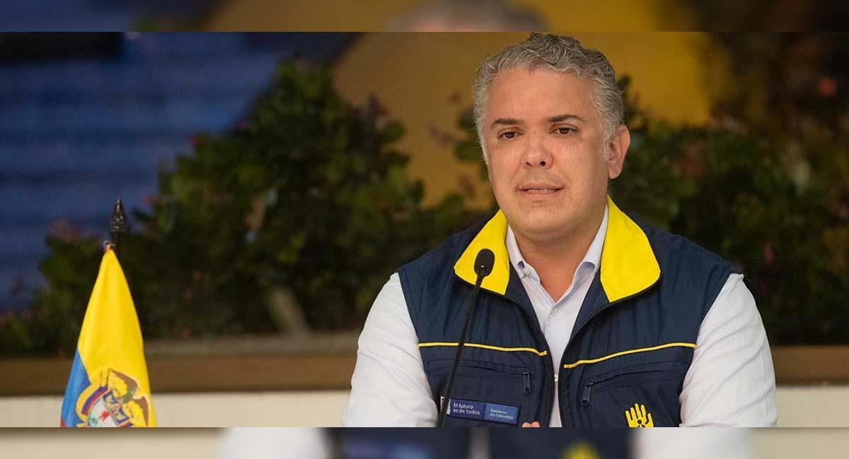 Iván Duque durante un Puesto de Mando Unificado en Providencia. Foto: Presidencia Colombia