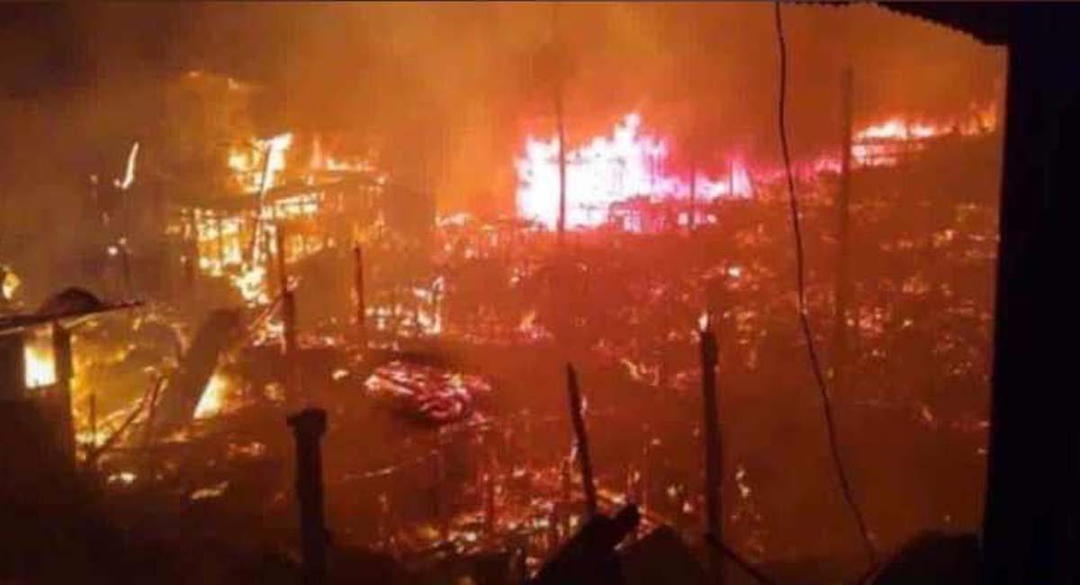 El incendio inició el pasado 28 de noviembre. Foto: Twitter / @CamiloCalleO