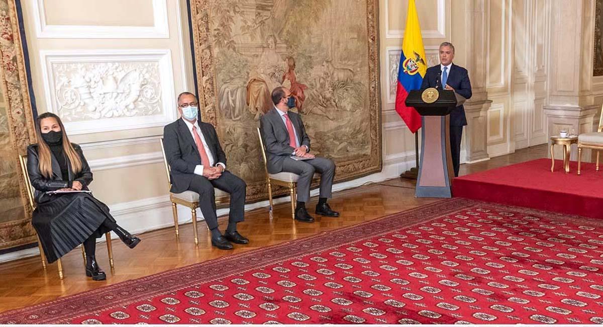 Iván Duque, durante la instalación de la Cumbre Colombia Científica. Foto: Presidencia Colombia