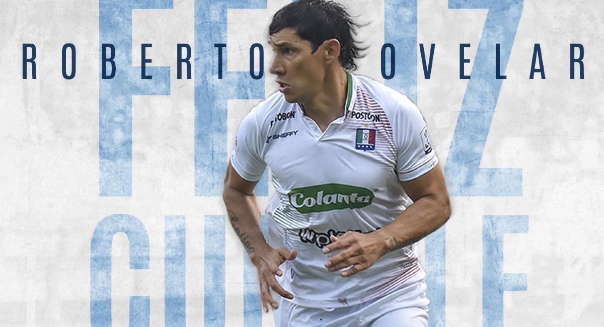 Roberto Ovelar, jugador de Once Caldas. Foto: Twitter @oncecaldas