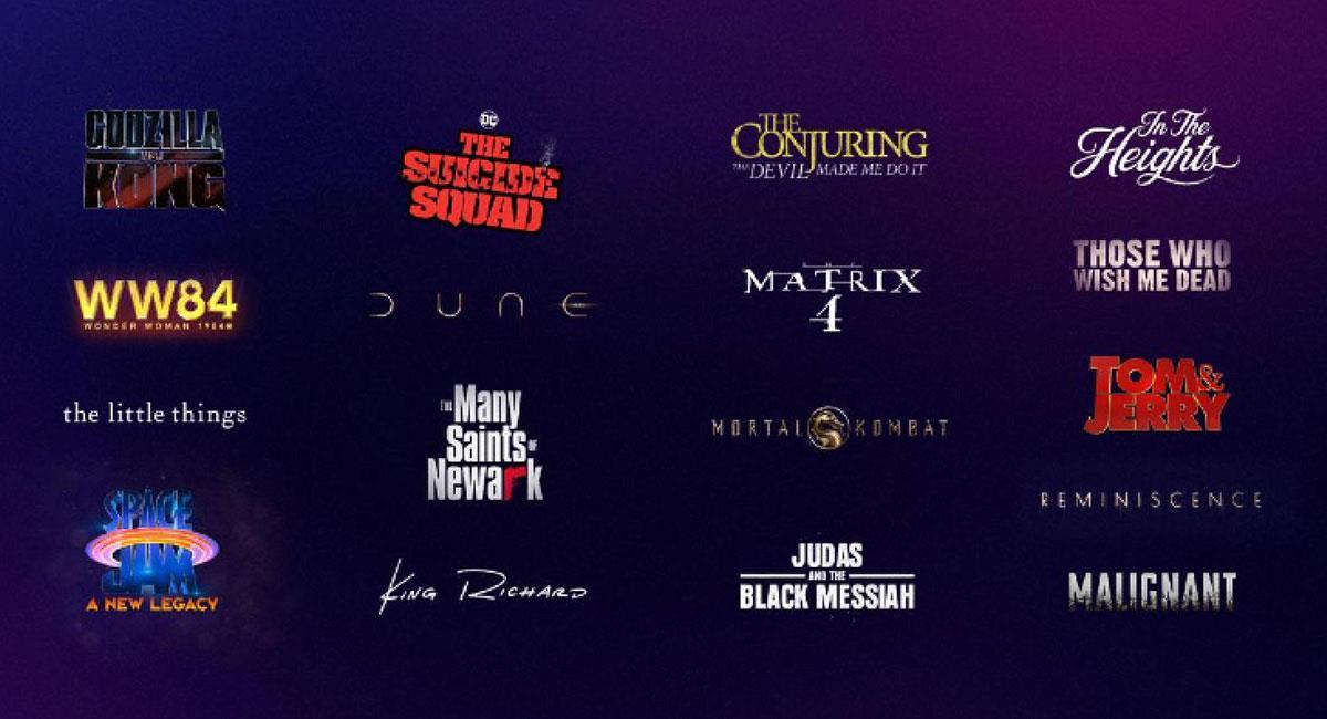 Todos los estrenos de Warner para 2021 llegarán el mismo día a cines y a a HBO Max. Foto: Twitter @hbomax