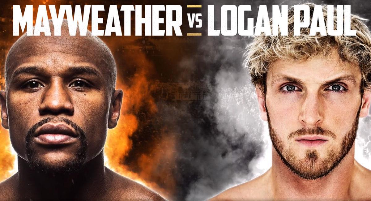 Floyd Mayweather y Logan Paul combatirán el próximo 20 de febrero. Foto: Twitter @FloydMayweather