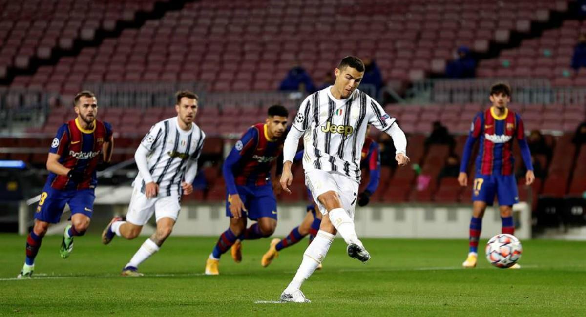 Juventus venció por 0-3 a Barcelona. Foto: EFE